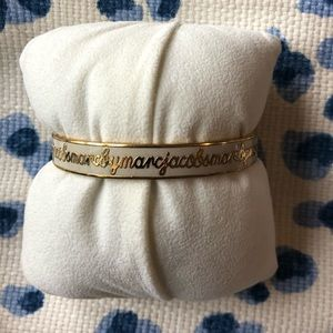 Marc Jacobs bracelet white and gold
